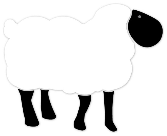Little Lamb and Sheep Stencil: The Wall Decor Store