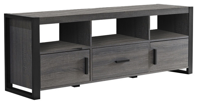 "We Furniture Angelo Home 60"" Tv Stand Console, Charcoal."