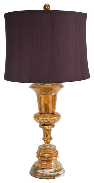 """32"""" Tall Marble Table Lamp """"Luxon"""", Amber"""