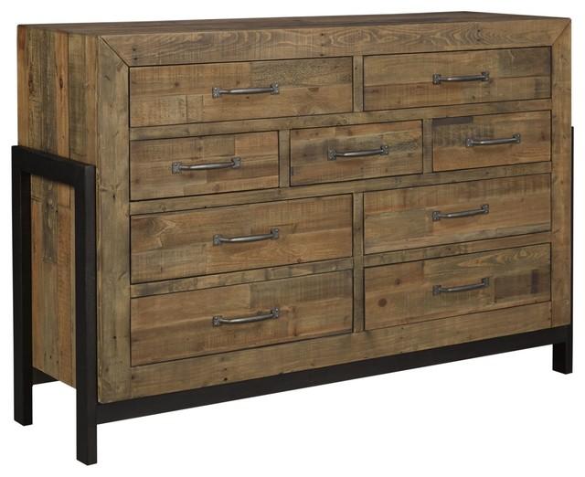 Dordale 9 Drawer Dresser, Brown.