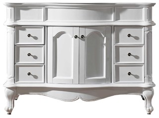 """Virtu Norhaven 48"""" Cabinet Only, White"""