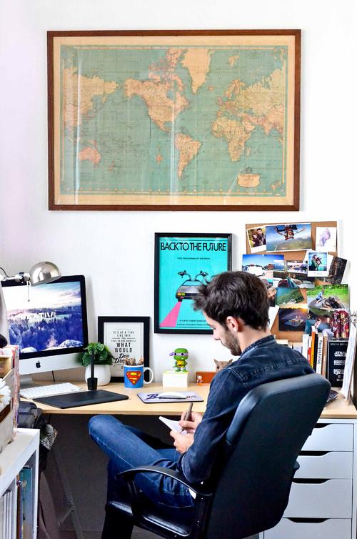 【Houzz】世界の暮らしとデザイン:個性が光る、エッジの効いた「男の隠れ家」11選! 12番目の画像