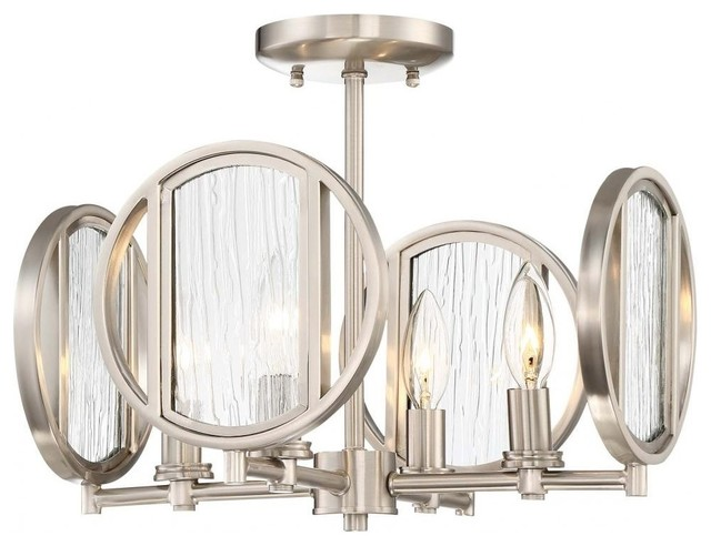 Minka Lavery Via Capri Semi Flush - Brushed Nickel.