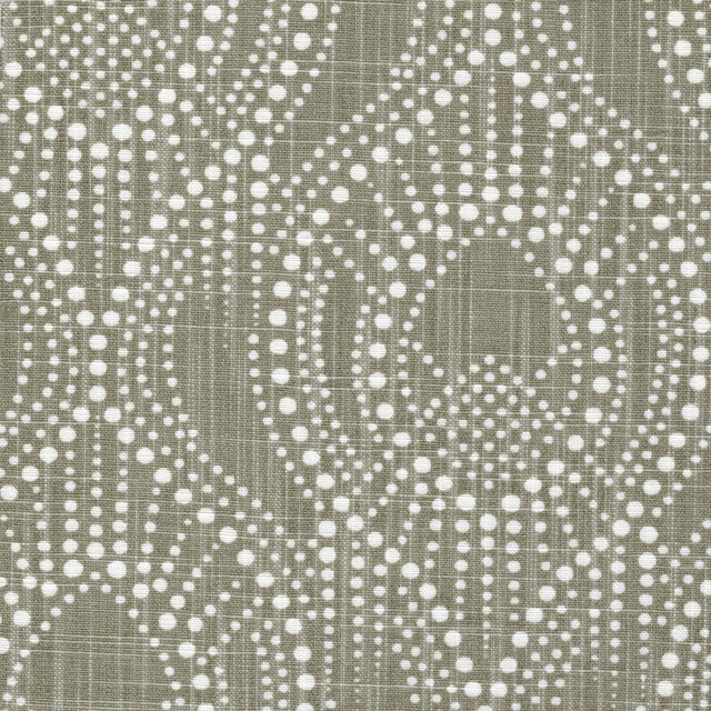 Alyssa Regal Taupe Dotted Print Empress Swag Valance Lined Cotton Linen.
