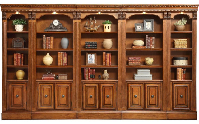 Parker House Huntington 5-Piece Library Wall In Pecan.
