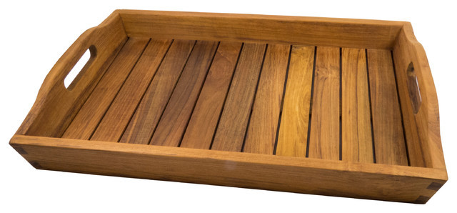 Delicieux Teak Shower And Spa Tray Oiled Finish