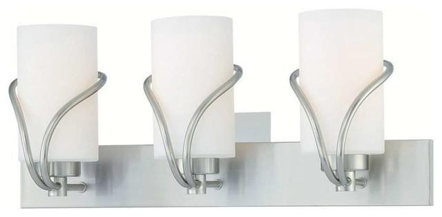 Forecast Karma Wall Lamp Satin Nickel 3x100w 120v