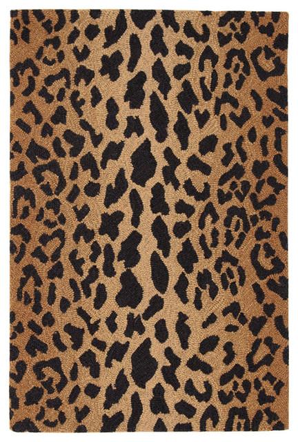 """Panthera Leopard Print Wool Runner, 2&x27;6""""x8&x27;."""