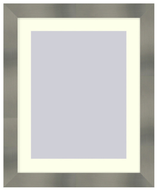 Wall Picture Frame Stainless Steel finish with a white acid-free matte, 16x20