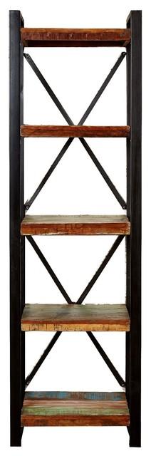 Urban Iron Framed Alcove Open Bookcase, 60 cm