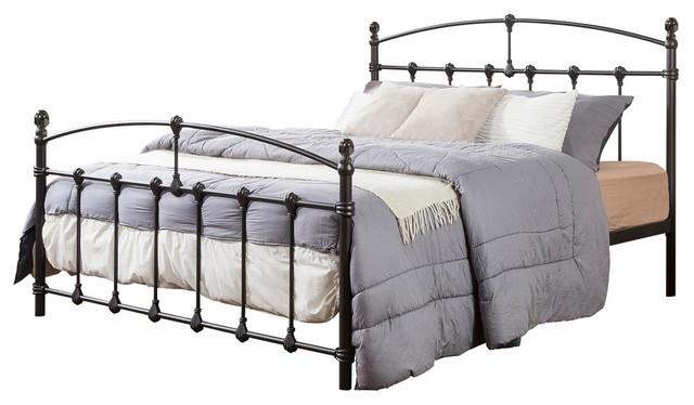 Alissa Shabby Chic Antique Dark Bronze Iron Metal Platform Bed