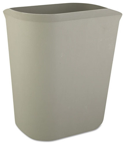 Shop houzz rubbermaid commercial fire resistant wastebasket rectangular fiberglass gal - Modern wastebasket ...