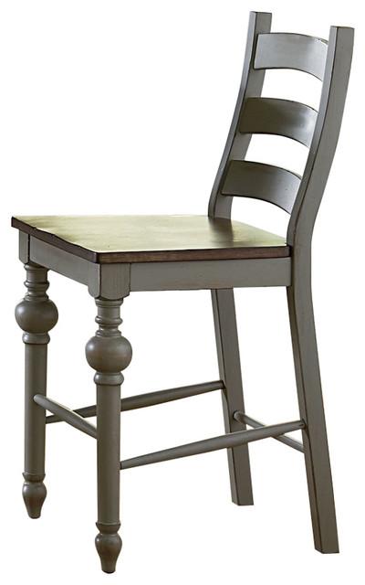 Brilliant Ladder Counter Chairs Set Of 2 Putty Oak Beatyapartments Chair Design Images Beatyapartmentscom