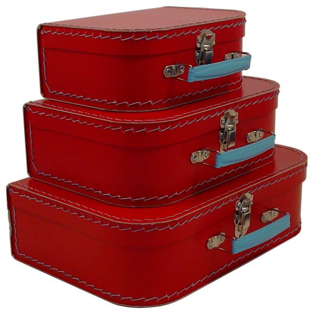 Cargo Traveler Mini Suitcases Set Of 3 Transitional