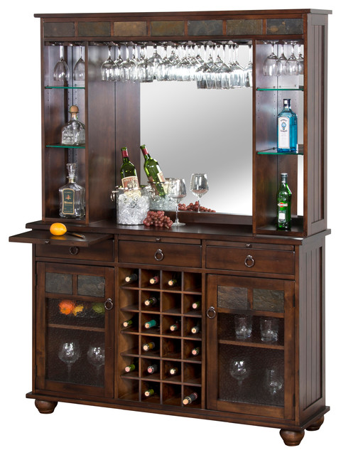 Santa Fe Server and Back Bar - Traditional - Wine And Bar Cabinets ...