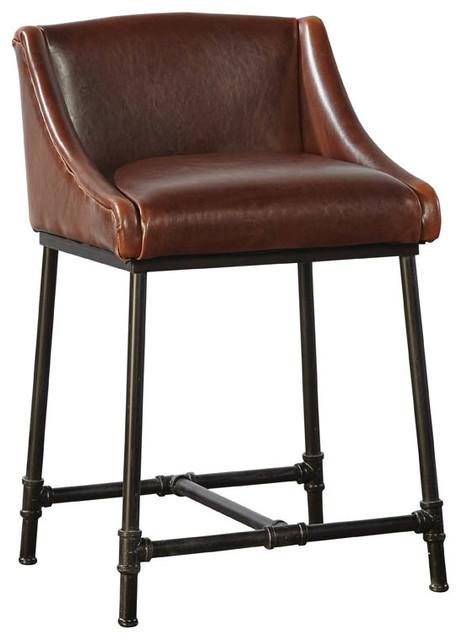 Marvelous Iron Pipe Counter Stool Evergreenethics Interior Chair Design Evergreenethicsorg