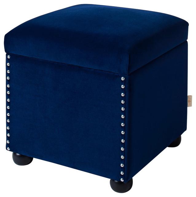 Hailey Storage Cube, Navy Blue