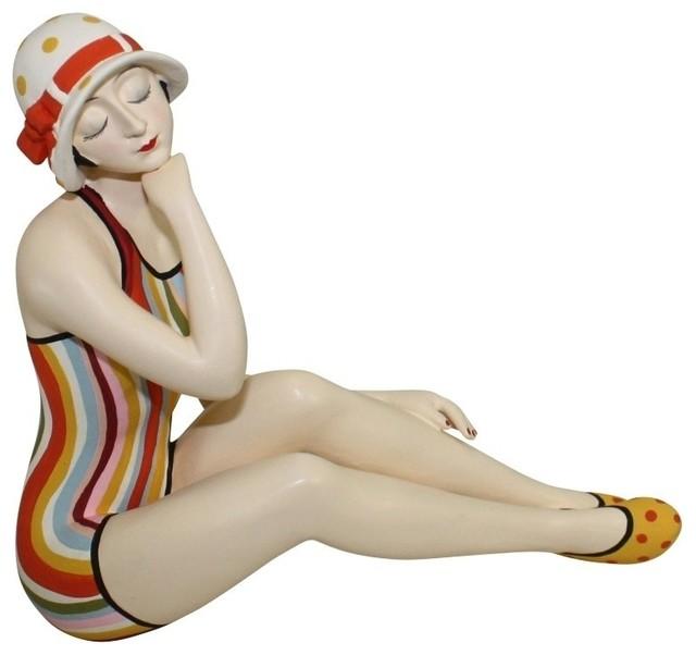 Dr Livingstone I Presume Furniture Medium Sized Bathing Beauty Figurine by Dr. Livingstone I Presume ...