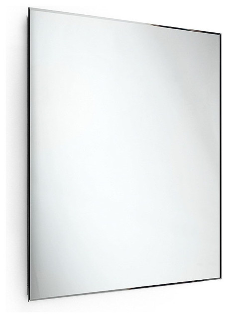 Speci 5660 Beveled Mirror 23 6 X 23 6 Contemporary Bathroom Mirrors