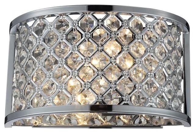 Elk Lighting Genevieve 2 Light Wall Sconce Polished Chrome