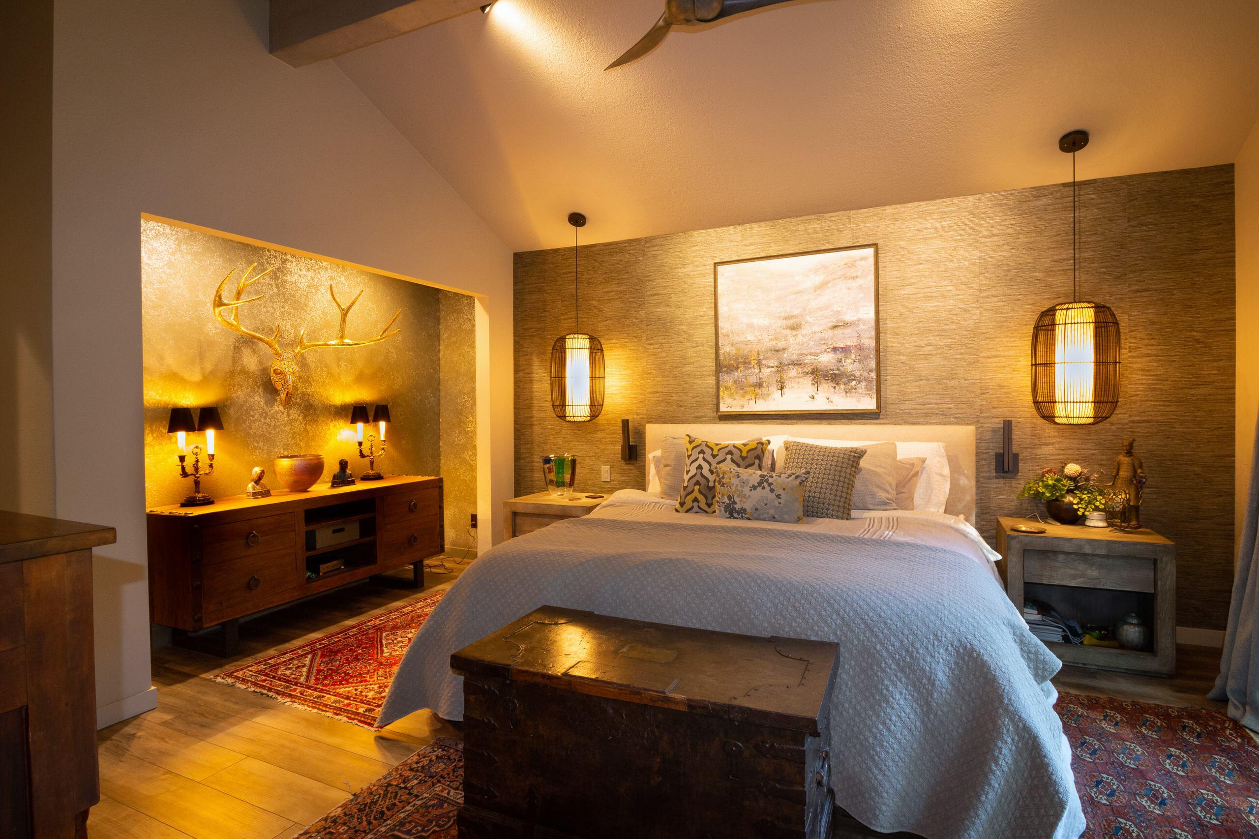 Contemporary Treehouse Master Bedroom
