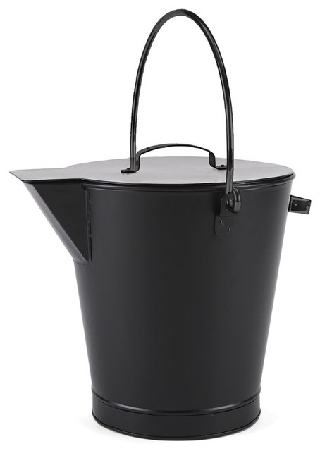 Minuteman All Black Ash Bucket - Powder Coated Black ...
