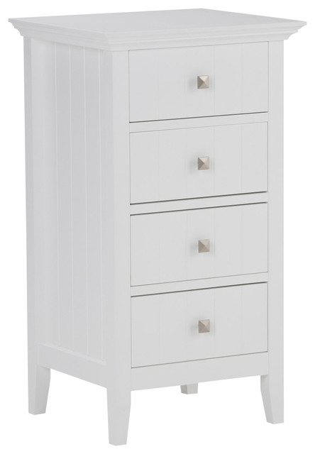 Acadian White 4-Drawer Bathroom Cabinet