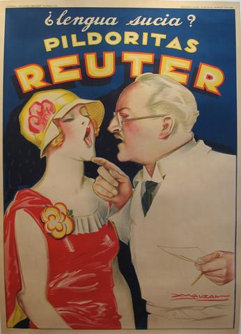 Mauzan - Consigned Original 1930s Medical Poster, Reuter by Mauzan & Reviews | Houzz