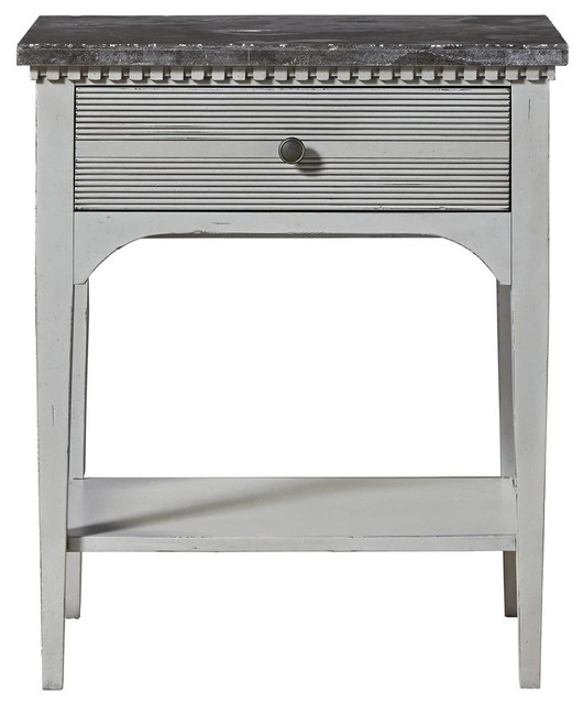 super popular d566c fad87 Sojourn French Country Nightstand with Bluestone Top