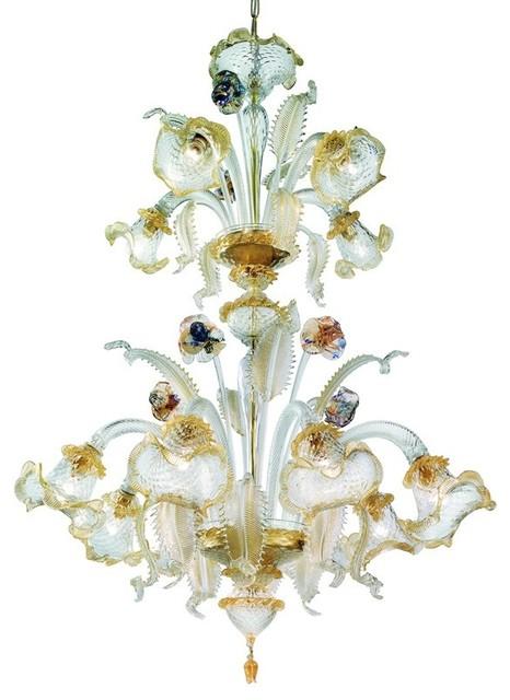Canal Grande 2-Tier Murano Glass Chandelier
