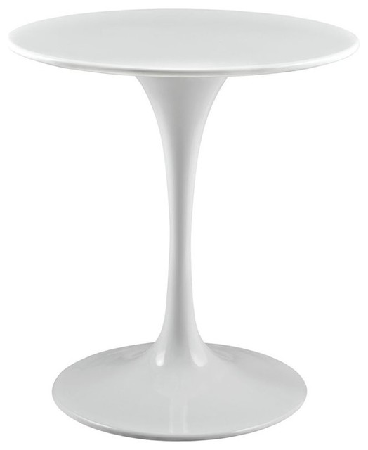 """Modway Lippa Dining Table, White, 27.5"""" Round"""