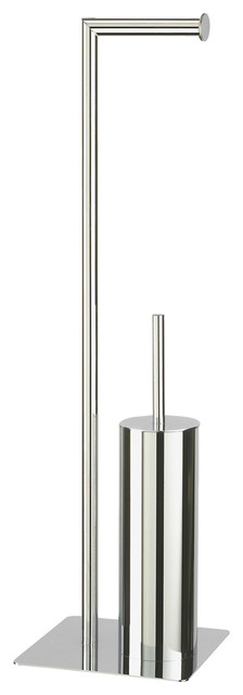 7998c5c31cad Free-Standing Chrome Stamford Toilet Roll and Toilet Brush Holder ...