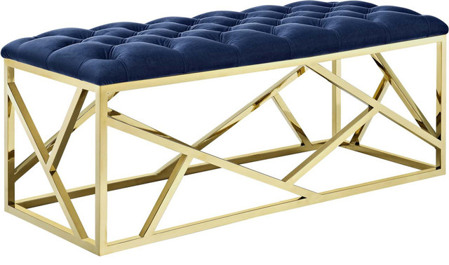 Gravesend Bench, Gold Navy.