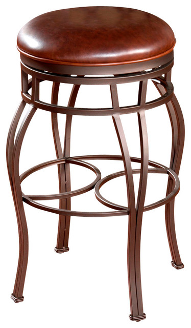 American Heritage Bella Backless Stool In Pepper With
