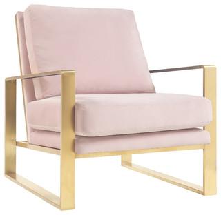 Mott Velvet Chair, Mauve