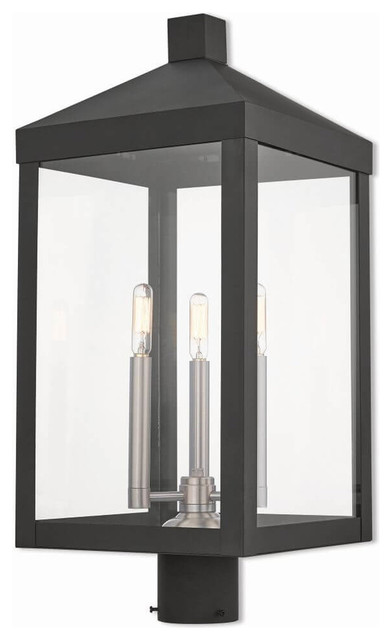 3 Light Outdoor Post Top Lantern Transitional Lights By Designer Lighting And Fan