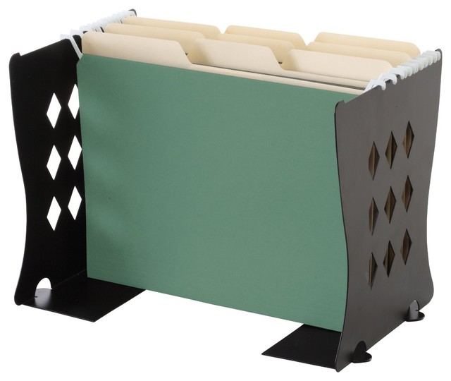 ... Find It Find It Book Ends/File Folder Stand, Black - Desk Accessories