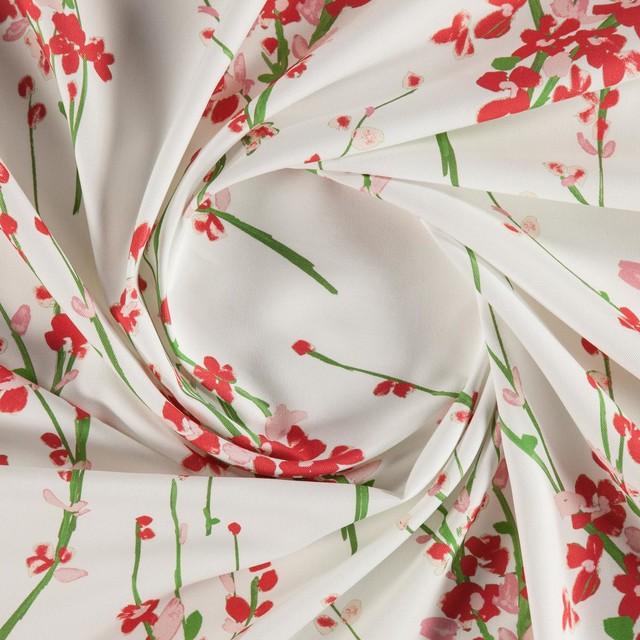 Carmen 003 Printed Floral Curtain Fabric Pink Sample