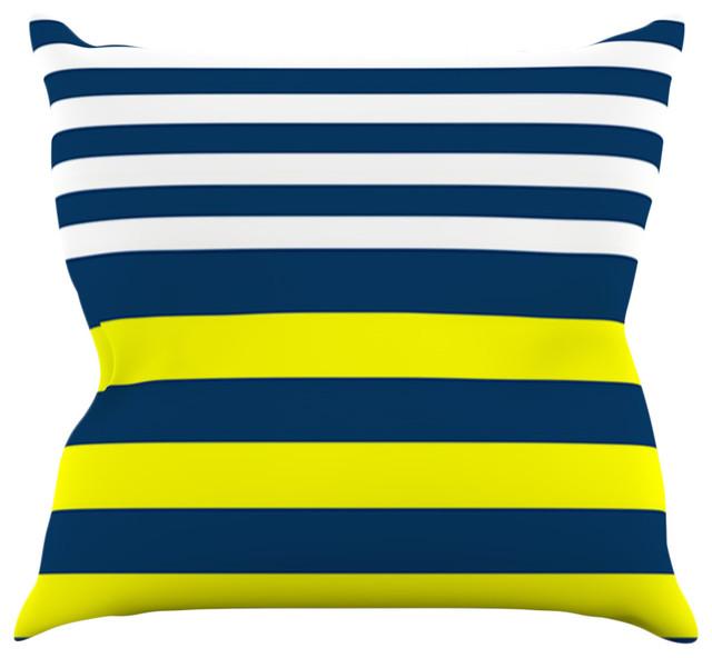 Yellow Beach Throw Pillows : Kess InHouse - Trebam