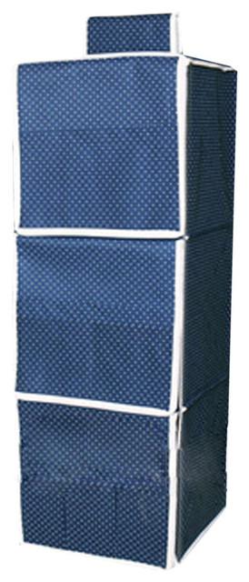 3 shelf hanging organizer closet without drawers modern. Black Bedroom Furniture Sets. Home Design Ideas