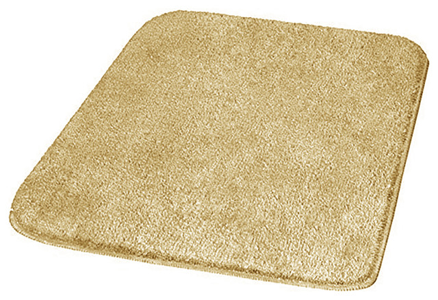 Sand Beige Modern Non Slip Washable Bathroom Rug With Thick Pile Live Contemporary Bath