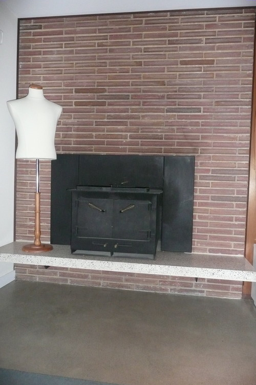 Gas Fireplace Insert For Existing Brick Fireplace Modern