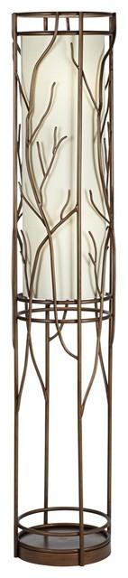 """Catalina Kilo 63"""" Ribbed Glass Floor Lamp"""
