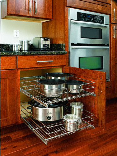 Rev-A-Shelf In-Cabinet Chrome Cabinet Organizer modern cabinet and drawer organizers