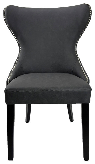 Tufted Back Dining Chair With Silver Nail Head