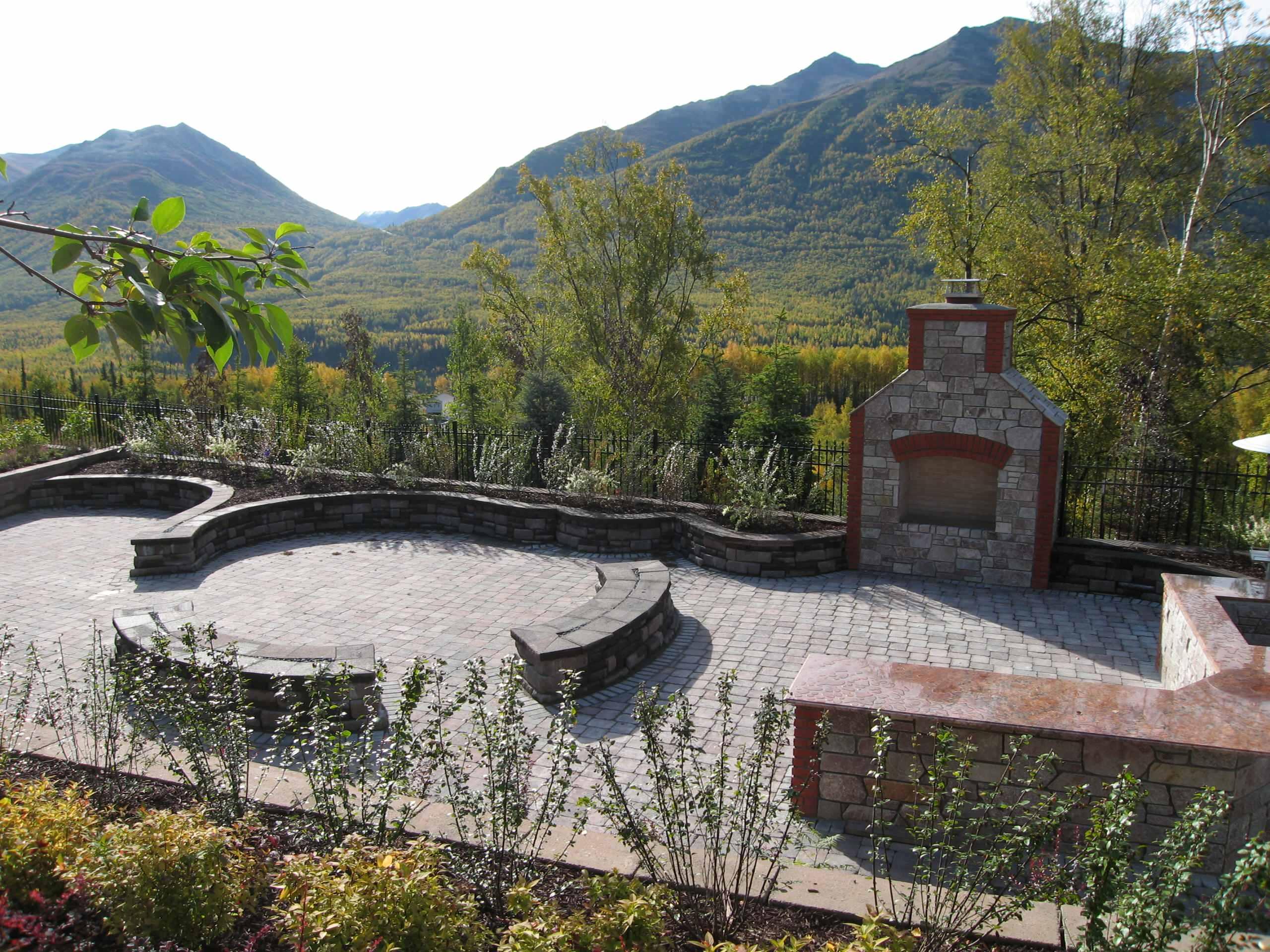 year 1 -  outdoor  entertaining area