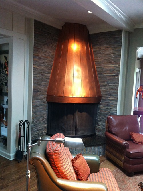 Beautiful Copper Fireplace Hood and Fireplace Details JH69