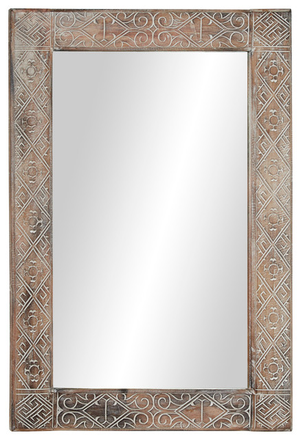 Rectangular Whitewashed Wooden Wall, Large Wall Mirror Uk