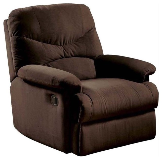 ACME Furniture Arcadia Recliner in Chocolate and Brown