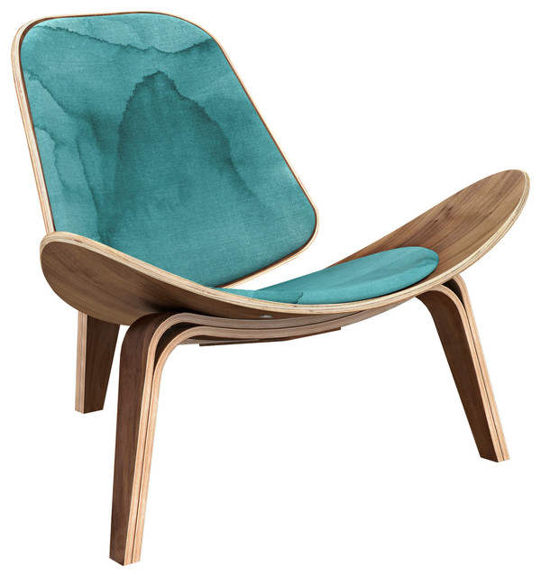 Walnut Shell Chair, Pacific Waters